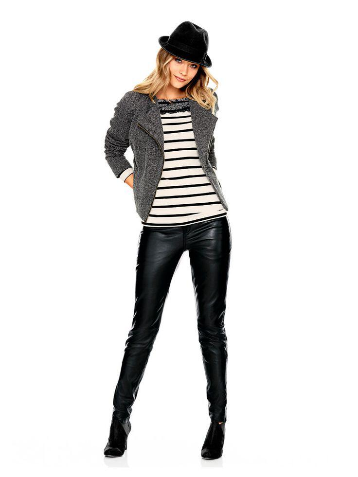 6 stylish ways combine striped shirt leather pants 4 - 6 stylish ways to combine a striped shirt with leather pants