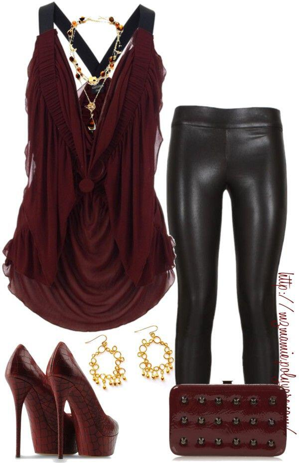 Leather Pants Club Outfit Ideas