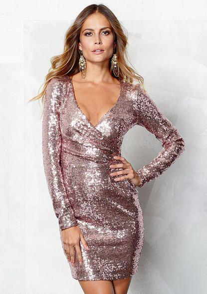 attractive sequin dresses valentines day 5 - The most attractive sequin dresses for Valentine's day