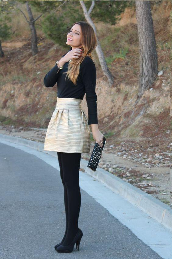 What are some cute outfits to wear in the winter that include skirts or dresses ...