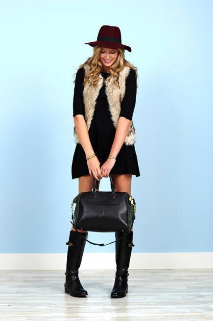 wear faux fur vests parties 2 - How to wear faux fur vests at parties