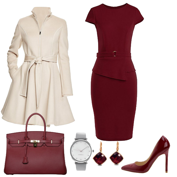 winter work outfit with dress 7 - What are some cute outfits to wear in the winter that include skirts or dresses