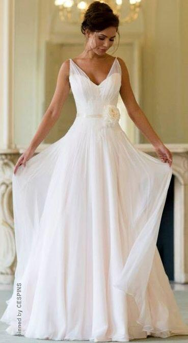 6 plain wedding dresses chic simple style - 6 plain wedding dresses for chic and simple style