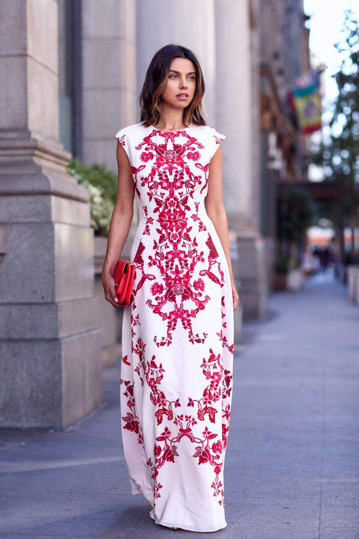 wear fun geometric print dress style - How to wear a fun geometric print dress in style