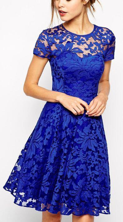 6 stylish cobalt blue dresses in every length 3 - 6 stylish cobalt blue dresses in every length