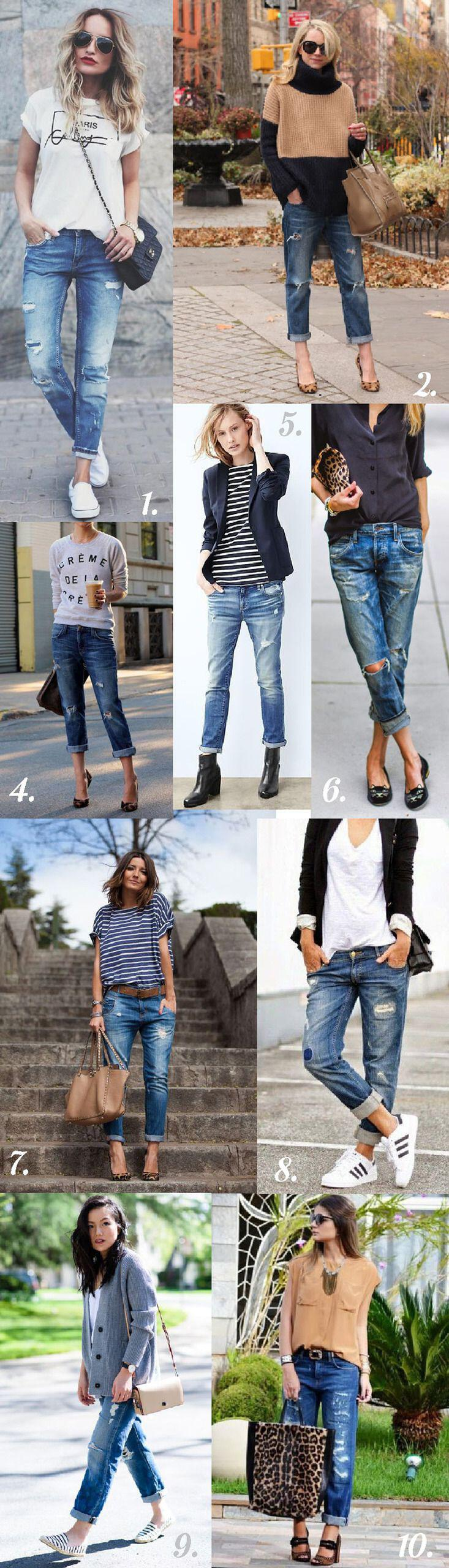 fe19545731 25 stylish winter outfits with boyfriend jeans and sweaters - Page 7 ...