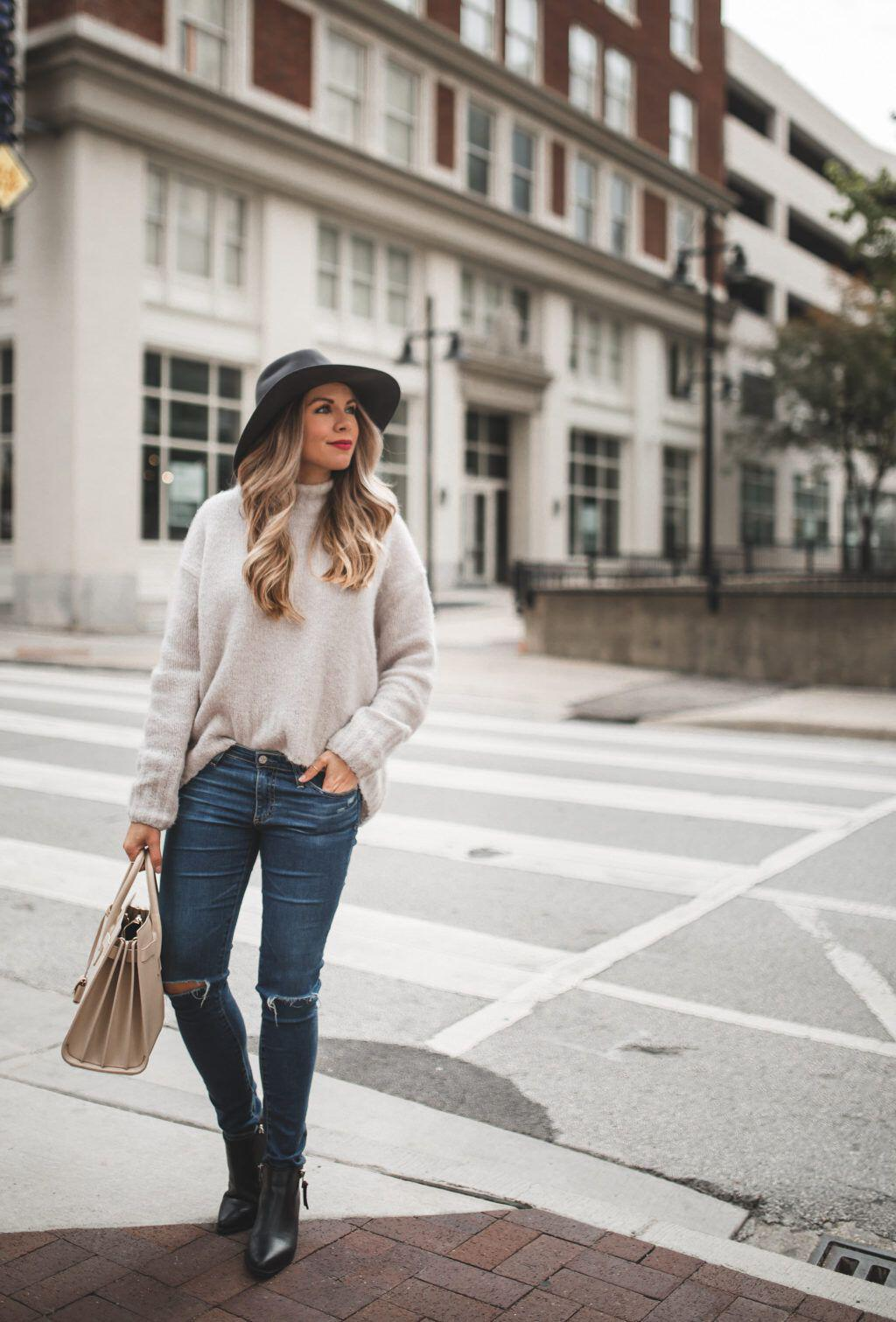 25 stylish winter outfits with boyfriend jeans and sweaters - 25 stylish winter outfits with boyfriend jeans and sweaters