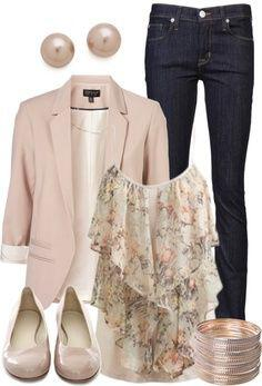 11 classy spring outfits with a pastel blouse 6 - 11 classy spring outfits with a pastel blouse
