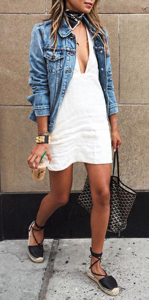 11 lovely spring outfits with a denim jacket 10 - 11 lovely spring outfits with a denim jacket