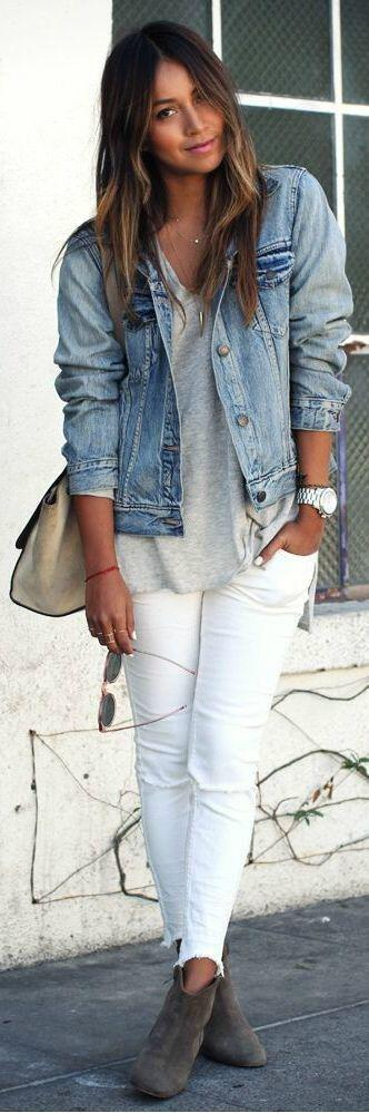 exceptional denim jacket outfit ideas