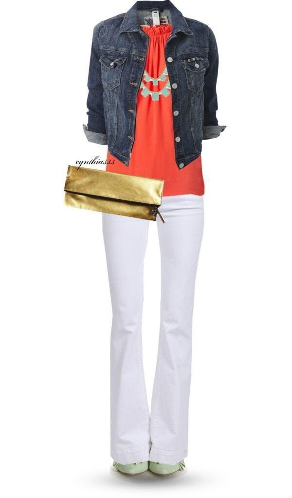 11 lovely spring outfits with a denim jacket 3 - 11 lovely spring outfits with a denim jacket