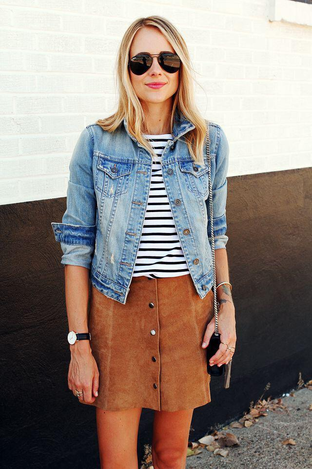 11 lovely spring outfits with a denim jacket 4 - 11 lovely spring outfits with a denim jacket
