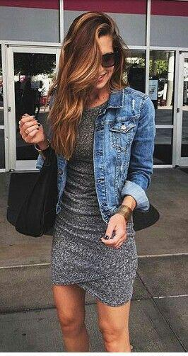 11 lovely spring outfits with a denim jacket 7 - 11 lovely spring outfits with a denim jacket