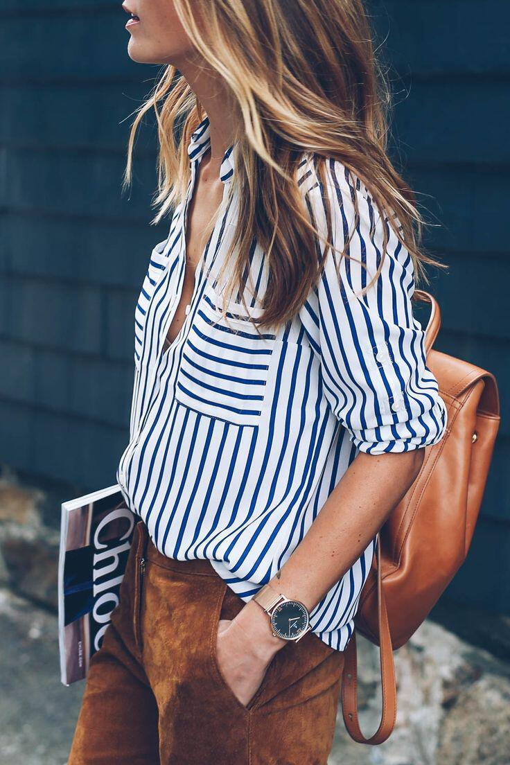 14 beautiful spring outfits with a striped top 13 - 14 beautiful spring outfits with a striped top
