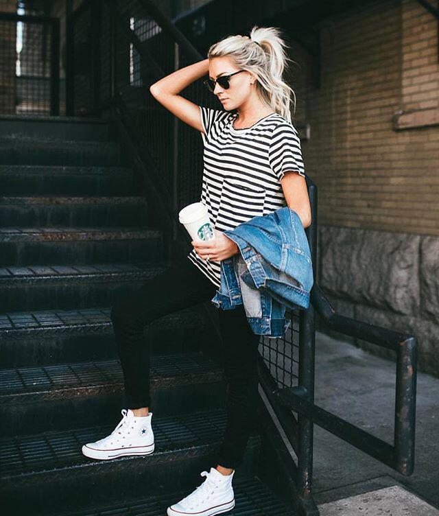 14 beautiful spring outfits with a striped top 3 - 14 beautiful spring outfits with a striped top