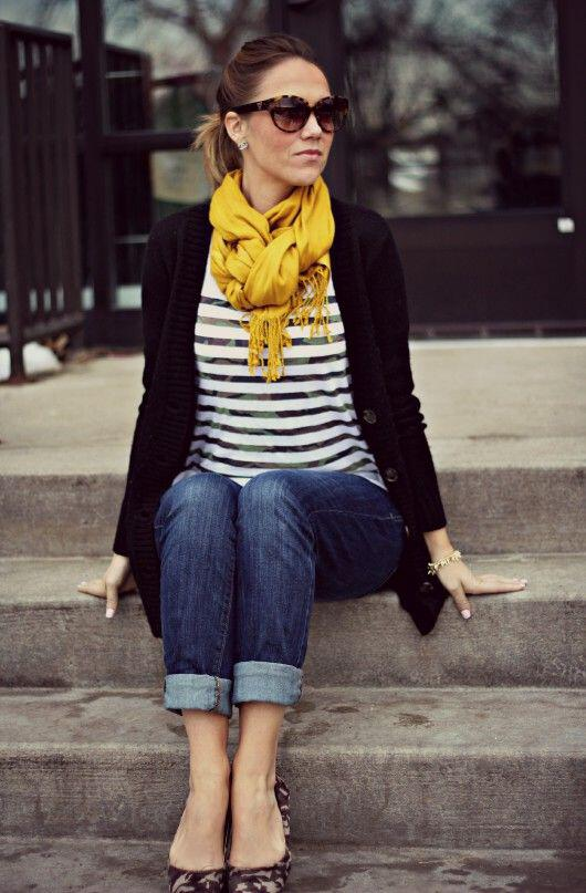 14 beautiful spring outfits with a striped top 4 - 14 beautiful spring outfits with a striped top