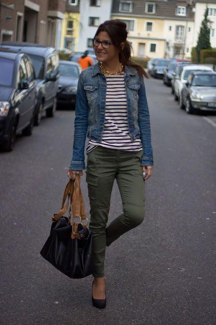 14 beautiful spring outfits with a striped top 7 - 14 beautiful spring outfits with a striped top