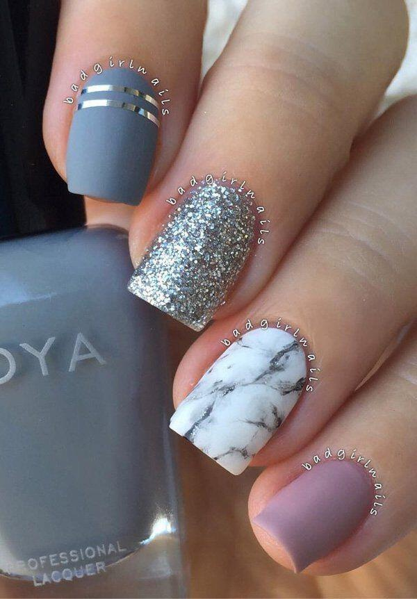 14 best marble nailart manicures for 2017 12 - 14 best marble nailart manicures for 2017