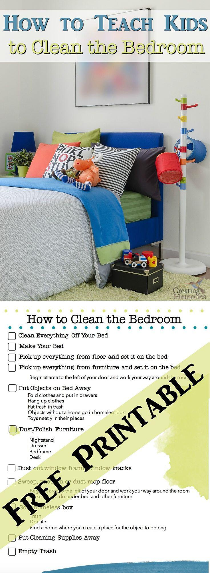 The 14 Best Checklists To Clean Your Bedroom For Adults And Kids 8   The 14