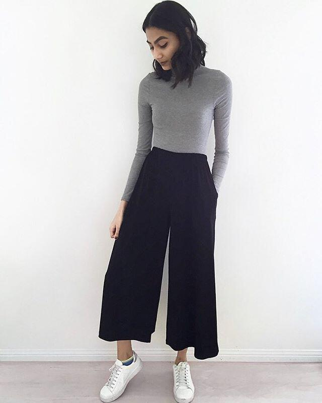 12 stylish spring outfits with culottes - Page 8 of 12 - stylishwomenoutfits.com