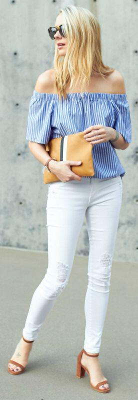 14 stylish spring outfits with white jeans 13 - 14 stylish spring outfits with white jeans