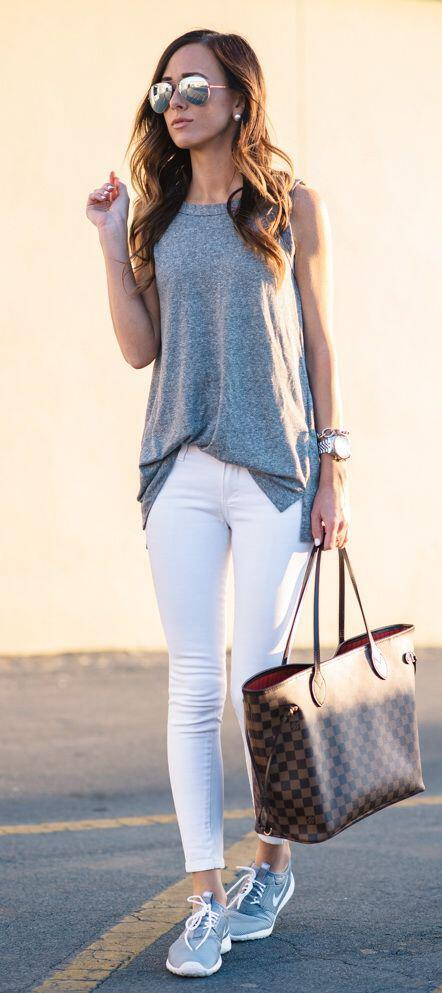 14 stylish spring outfits with white jeans 8 - 14 stylish spring outfits with white jeans