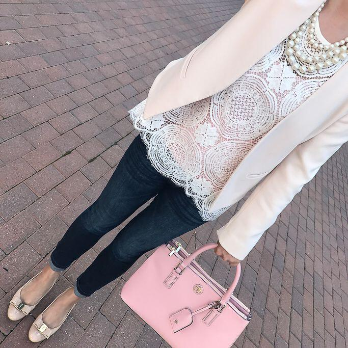 15 blush blazer spring outfits you need to try 11 - 15 blush blazer spring outfits you need to try