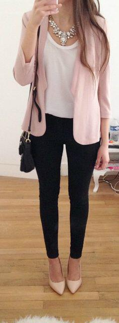 15 blush blazer spring outfits you need to try 12 - 15 blush blazer spring outfits you need to try