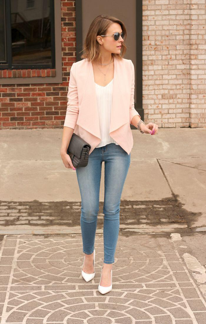 15 blush blazer spring outfits you need to try 14 - 15 blush blazer spring outfits you need to try