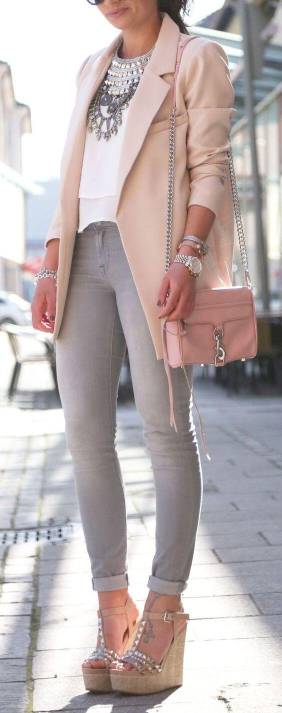 15 blush blazer spring outfits you need to try 3 - 15 blush blazer spring outfits you need to try