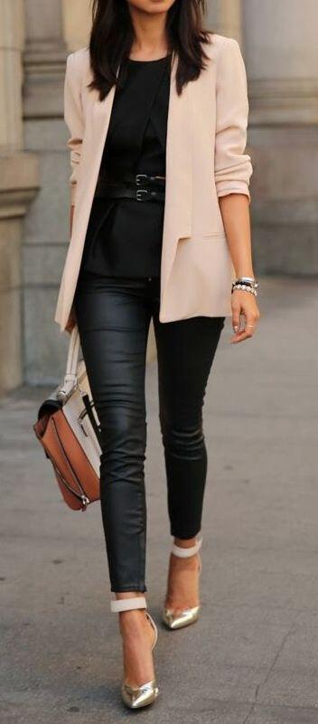 15 blush blazer spring outfits you need to try 8 - 15 blush blazer spring outfits you need to try
