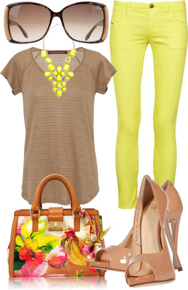 19 outfit ideas to wear your yellow jeans this spring 13 - 19 outfit ideas to wear your yellow jeans this spring