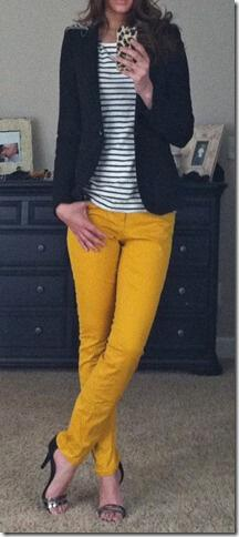 19 outfit ideas to wear your yellow jeans this spring - stylishwomenoutfits.com