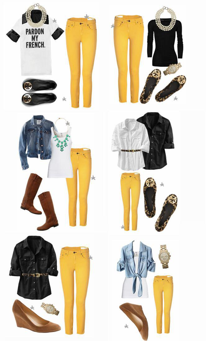 19 outfit ideas to wear your yellow jeans this spring - 19 outfit ideas to wear your yellow jeans this spring