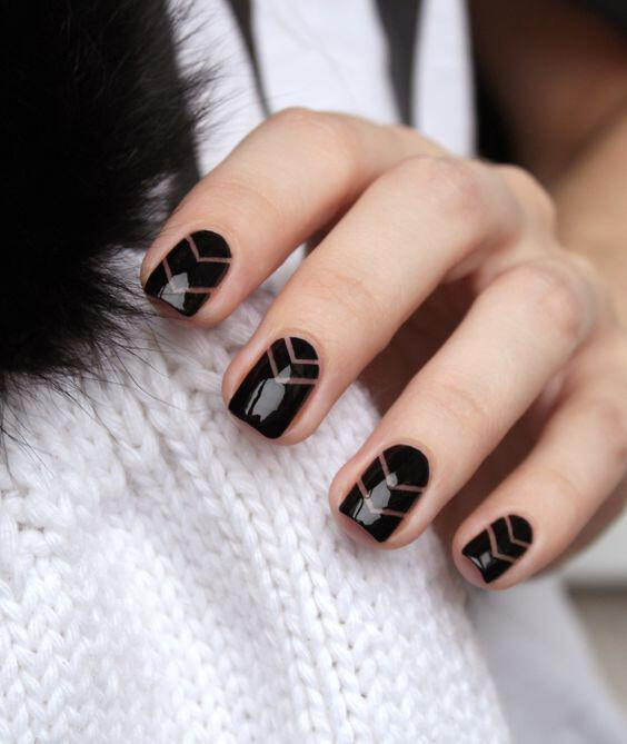 geometric nailart 15 designs 1 - Geometric nailart 15 best designs to copy