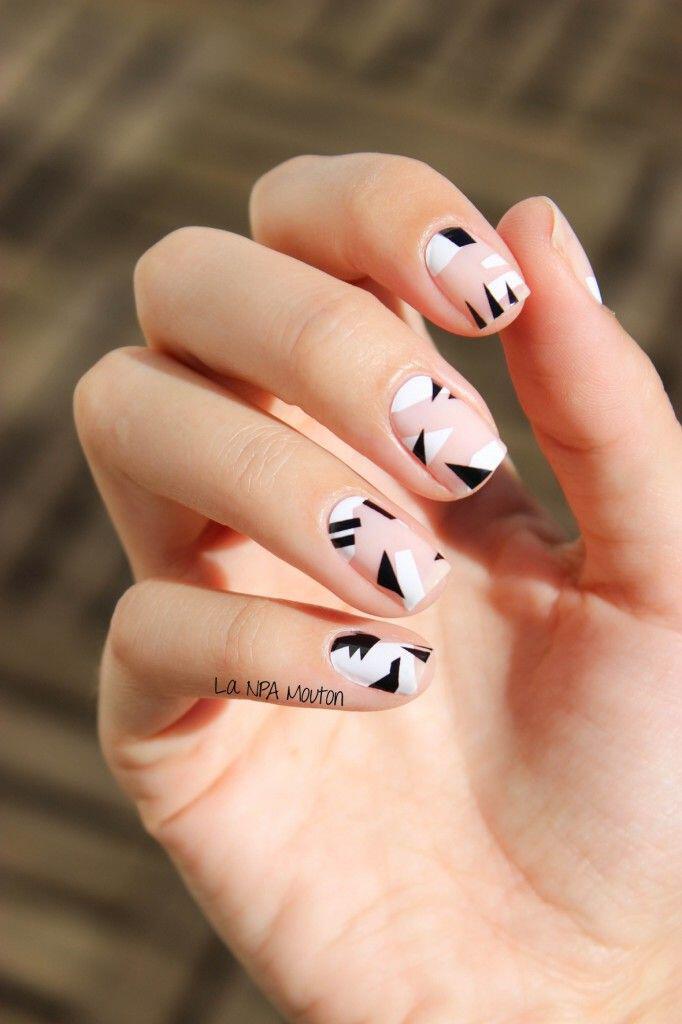 geometric nailart 15 designs 12 - Geometric nailart 15 best designs to copy