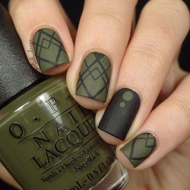 geometric nailart 15 designs 7 - Geometric nailart 15 best designs to copy