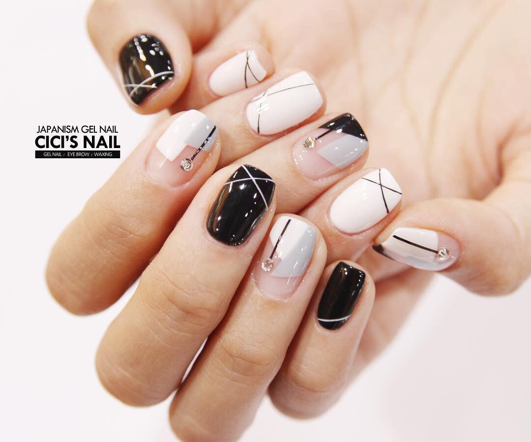 geometric nailart 15 designs 9 - Geometric nailart 15 best designs to copy
