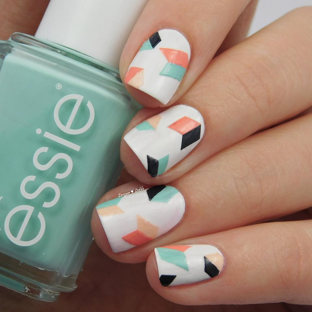 Diy Geometric Nail Art Design: Geometric Nailart 15 Best Designs To Copy