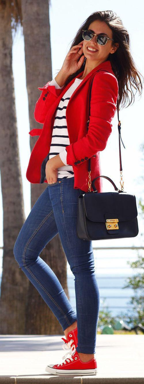 11 inspiring ways to wear your red blazer right now 1 - 11 inspiring ways to wear your red blazer right now