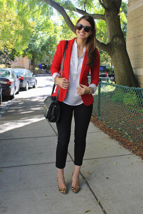 11 inspiring ways to wear your red blazer right now 10 - 11 inspiring ways to wear your red blazer right now