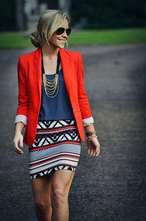 11 inspiring ways to wear your red blazer right now 6 - 11 inspiring ways to wear your red blazer right now