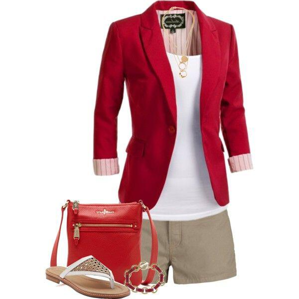 11 inspiring ways to wear your red blazer right now 7 - 11 inspiring ways to wear your red blazer right now
