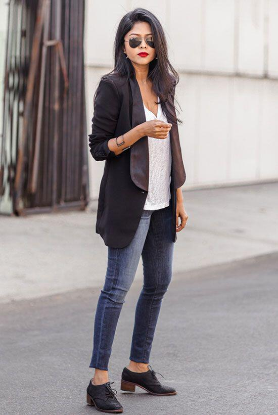 14 ideas to wear your black blazer in spring outfits 11 - 14 ideas to wear your black blazer in spring outfits