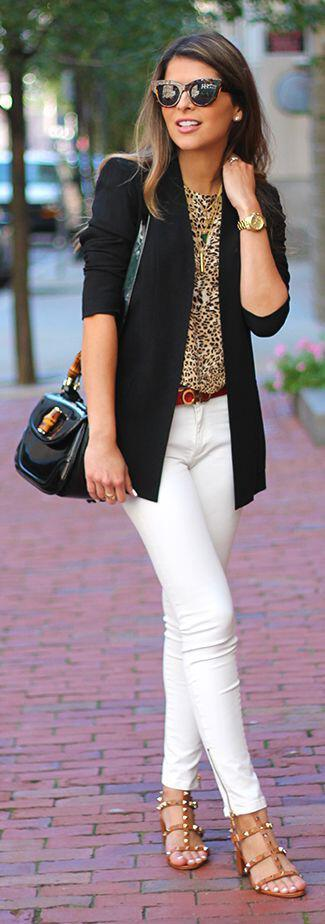 14 ideas to wear your black blazer in spring outfits 2 - 14 ideas to wear your black blazer in spring outfits