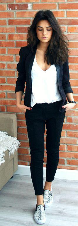 14 ideas to wear your black blazer in spring outfits 4 - 14 ideas to wear your black blazer in spring outfits