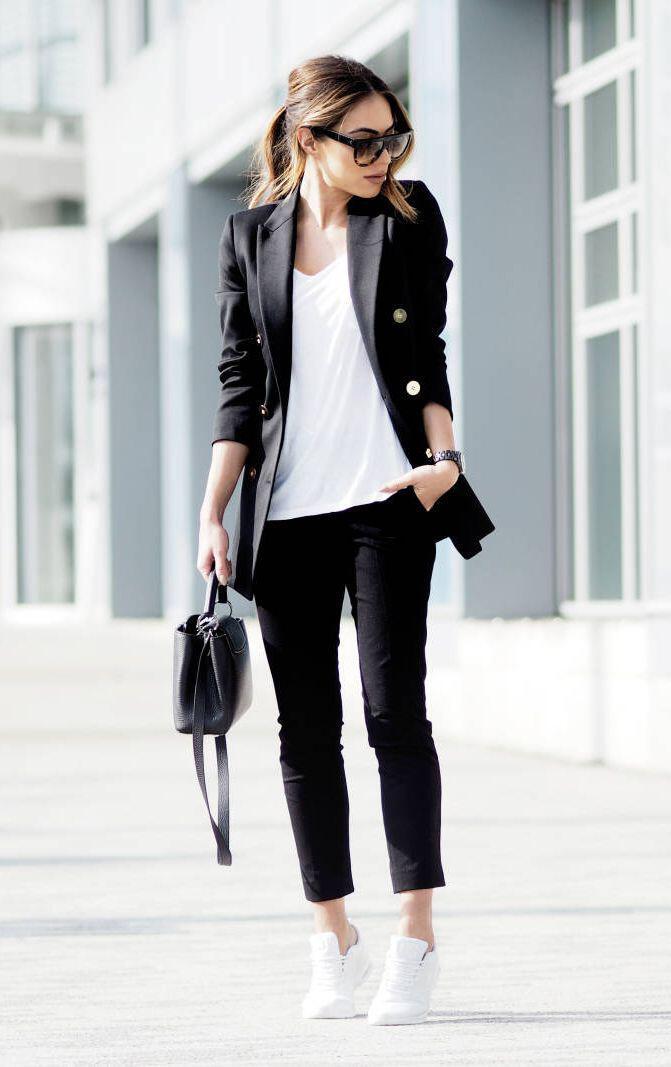 14 ideas to wear your black blazer in spring outfits 7 - 14 ideas to wear your black blazer in spring outfits