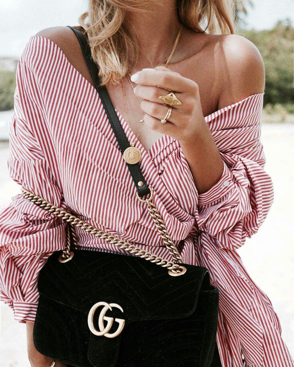 14 lovely ways to wear striped off the shoulder tops in spring 4 - 14 lovely ways to wear striped off the shoulder tops in spring