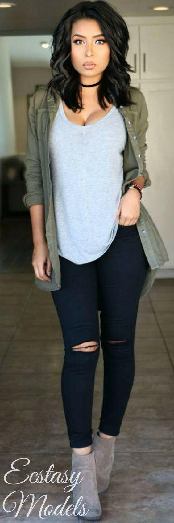14 stylish ways to wear ankle boots in casual spring outfits 1 - 14 stylish ways to wear ankle boots in casual spring outfits