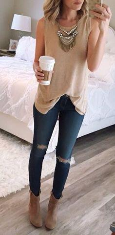 14 stylish ways to wear ankle boots in casual spring outfits 12 - 14 stylish ways to wear ankle boots in casual spring outfits